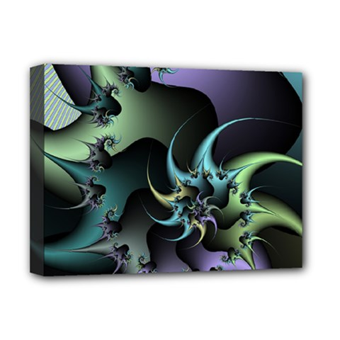 Fractal Image With Sharp Wheels Deluxe Canvas 16  x 12