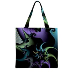 Fractal Image With Sharp Wheels Grocery Tote Bag