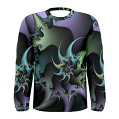 Fractal Image With Sharp Wheels Men s Long Sleeve Tee