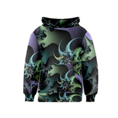 Fractal Image With Sharp Wheels Kids  Pullover Hoodie