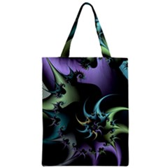 Fractal Image With Sharp Wheels Zipper Classic Tote Bag