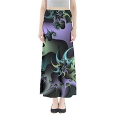 Fractal Image With Sharp Wheels Maxi Skirts