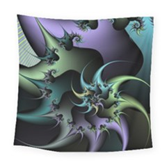 Fractal Image With Sharp Wheels Square Tapestry (large)