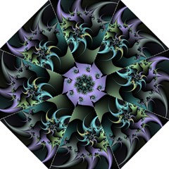 Fractal Image With Sharp Wheels Folding Umbrellas