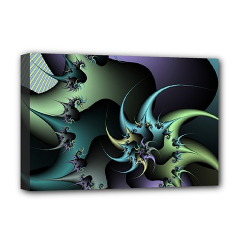 Fractal Image With Sharp Wheels Deluxe Canvas 18  x 12