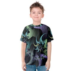 Fractal Image With Sharp Wheels Kids  Cotton Tee