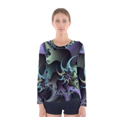 Fractal Image With Sharp Wheels Women s Long Sleeve Tee