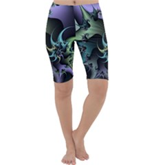 Fractal Image With Sharp Wheels Cropped Leggings