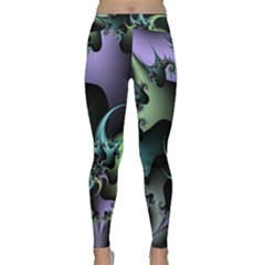 Fractal Image With Sharp Wheels Classic Yoga Leggings