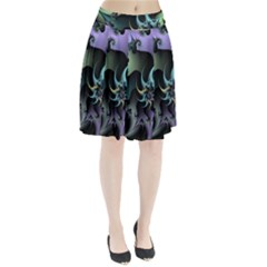Fractal Image With Sharp Wheels Pleated Skirt