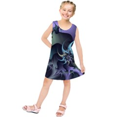 Fractal Image With Sharp Wheels Kids  Tunic Dress
