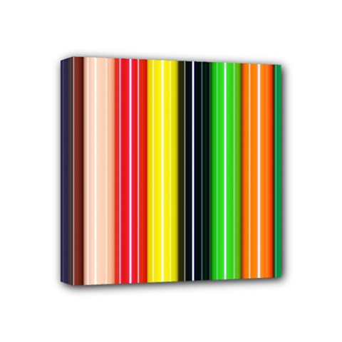 Stripes Colorful Striped Background Wallpaper Pattern Mini Canvas 4  X 4