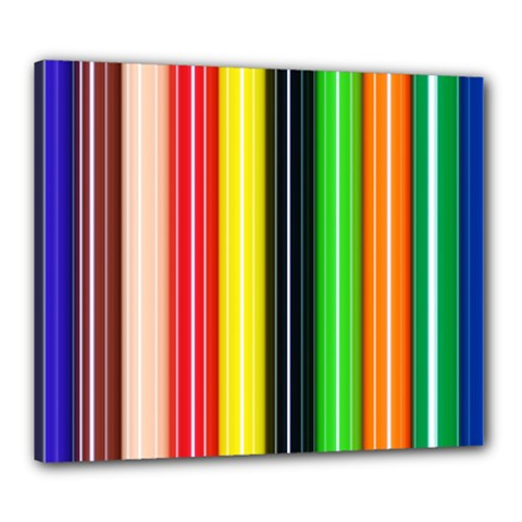 Stripes Colorful Striped Background Wallpaper Pattern Canvas 24  X 20