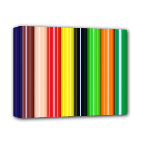 Stripes Colorful Striped Background Wallpaper Pattern Deluxe Canvas 14  X 11