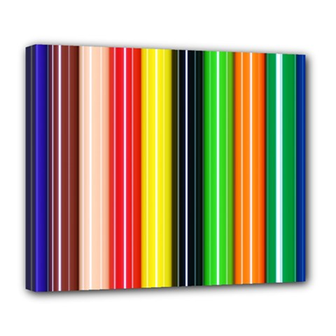 Stripes Colorful Striped Background Wallpaper Pattern Deluxe Canvas 24  x 20