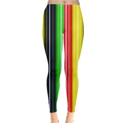Stripes Colorful Striped Background Wallpaper Pattern Leggings