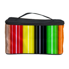 Stripes Colorful Striped Background Wallpaper Pattern Cosmetic Storage Case