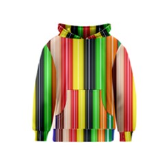 Stripes Colorful Striped Background Wallpaper Pattern Kids  Pullover Hoodie