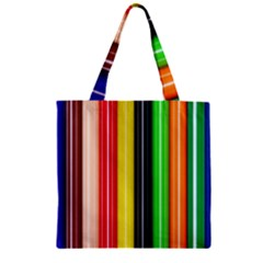 Stripes Colorful Striped Background Wallpaper Pattern Zipper Grocery Tote Bag