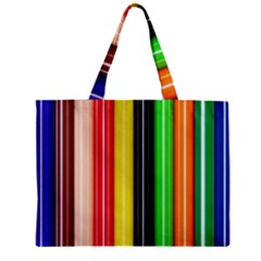 Stripes Colorful Striped Background Wallpaper Pattern Zipper Mini Tote Bag