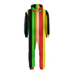 Stripes Colorful Striped Background Wallpaper Pattern Hooded Jumpsuit (Kids)