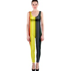 Stripes Colorful Striped Background Wallpaper Pattern Onepiece Catsuit