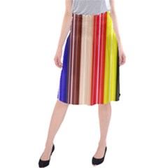 Stripes Colorful Striped Background Wallpaper Pattern Midi Beach Skirt