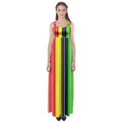 Stripes Colorful Striped Background Wallpaper Pattern Empire Waist Maxi Dress