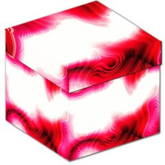Abstract Pink Page Border Storage Stool 12
