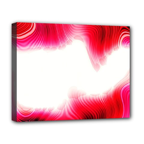 Abstract Pink Page Border Deluxe Canvas 20  X 16
