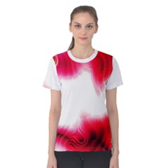 Abstract Pink Page Border Women s Cotton Tee