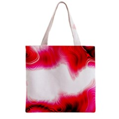 Abstract Pink Page Border Grocery Tote Bag