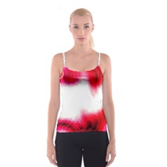 Abstract Pink Page Border Spaghetti Strap Top