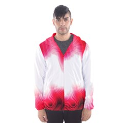 Abstract Pink Page Border Hooded Wind Breaker (men)