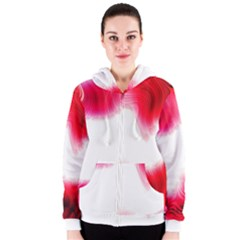 Abstract Pink Page Border Women s Zipper Hoodie