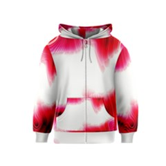 Abstract Pink Page Border Kids  Zipper Hoodie