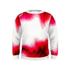 Abstract Pink Page Border Kids  Sweatshirt