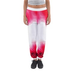 Abstract Pink Page Border Women s Jogger Sweatpants
