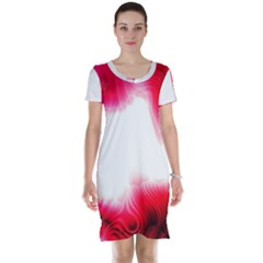 Abstract Pink Page Border Short Sleeve Nightdress