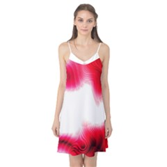 Abstract Pink Page Border Camis Nightgown