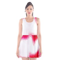 Abstract Pink Page Border Scoop Neck Skater Dress