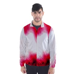 Abstract Pink Page Border Wind Breaker (men)