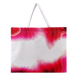 Abstract Pink Page Border Zipper Large Tote Bag
