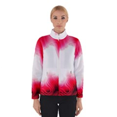 Abstract Pink Page Border Winterwear