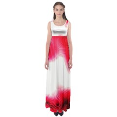 Abstract Pink Page Border Empire Waist Maxi Dress