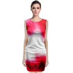 Abstract Pink Page Border Classic Sleeveless Midi Dress