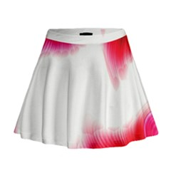 Abstract Pink Page Border Mini Flare Skirt