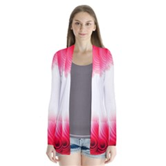 Abstract Pink Page Border Cardigans