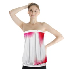 Abstract Pink Page Border Strapless Top
