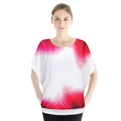 Abstract Pink Page Border Blouse